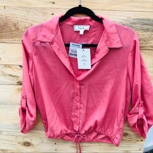 S - Pink Blouse NWT